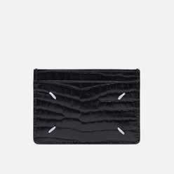 Держатель для карточек Maison Margiela Four Stitch Printed Embossed Leather Black