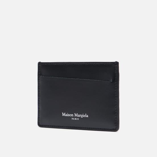 Держатель для карточек Maison Margiela Four Stitch Printed Embossed Leather Black