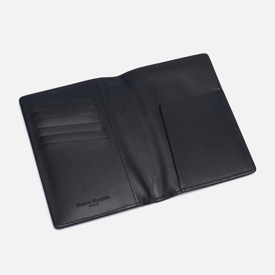 Обложка для паспорта Maison Margiela Wrinkled Leather Black