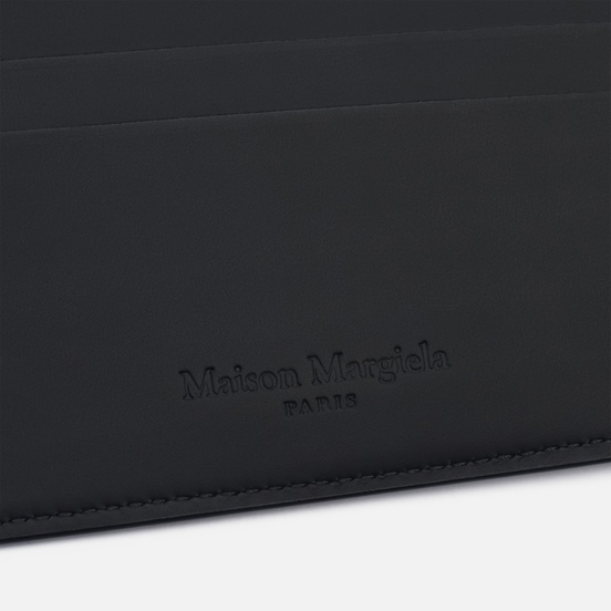 Кошелек Maison Margiela Front Numerical Logo Embossed Black