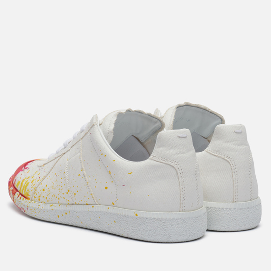 Мужские кроссовки Maison Margiela Replica Canvas Paint Splatter White/Variant 1