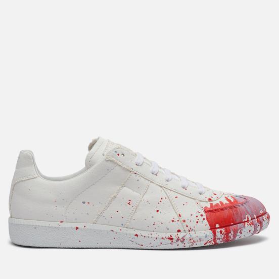 Мужские кроссовки Maison Margiela Replica Canvas Paint Splatter White/Variant 2