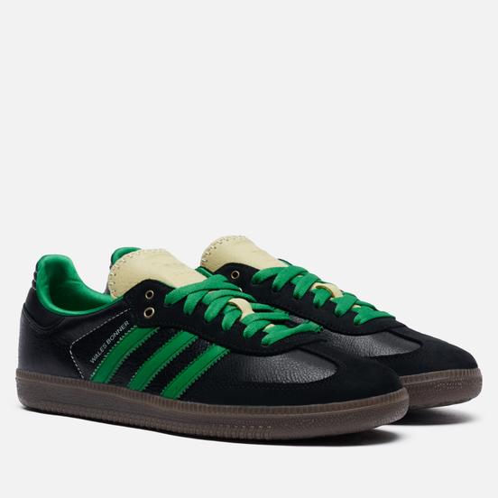 Кроссовки adidas Originals x Wales Bonner Samba Core Black/Cream White/Green
