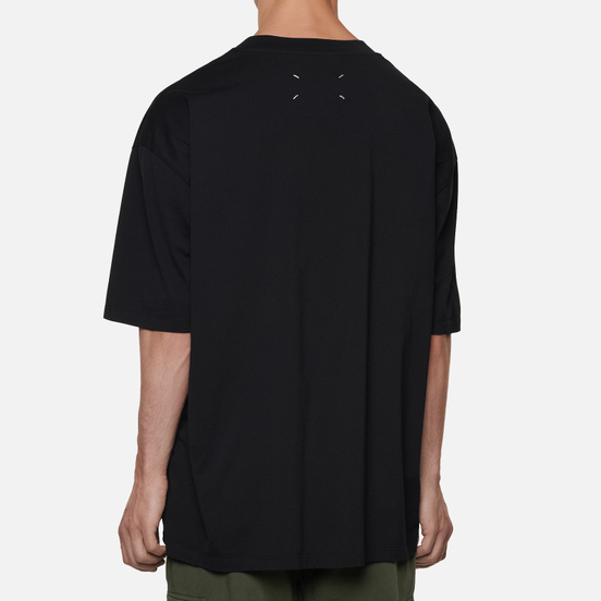 Мужская футболка Maison Margiela Crew Neck Hole Numbers Logo Black