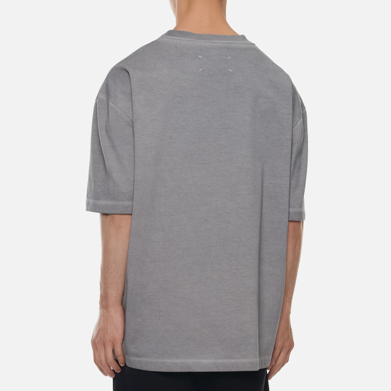 Мужская футболка Maison Margiela Classic Embroidered Text Logo Grey