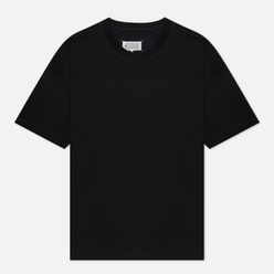 Мужская футболка Maison Margiela Classic Embroidered Text Logo Black