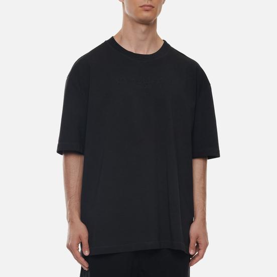 Мужская футболка Maison Margiela Classic Embroidered Text Logo Black