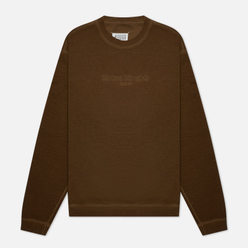 Мужская толстовка Maison Margiela Classic Embroidered Text Logo Crew Neck Olive
