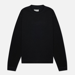 Мужская толстовка Maison Margiela Classic Embroidered Text Logo Crew Neck Black