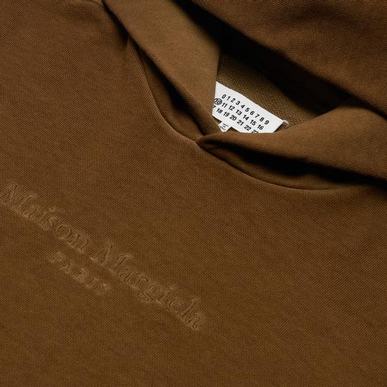 Мужская толстовка Maison Margiela Classic Embroidered Text Logo Hoodie Olive