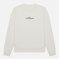 Мужская толстовка Maison Margiela Embroidered Text Logo Crew Neck Off White