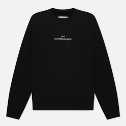 Мужская толстовка Maison Margiela Embroidered Text Logo Crew Neck Black