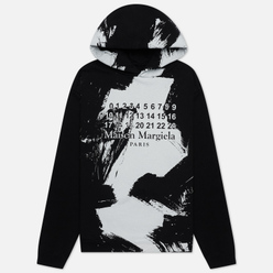 Мужская толстовка Maison Margiela Painted Effect Hoodie Black