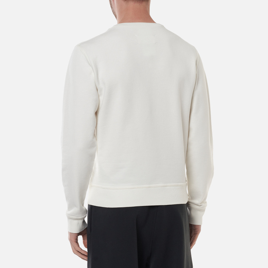 Мужская толстовка Maison Margiela Upside Down Logo Embroidered Off White