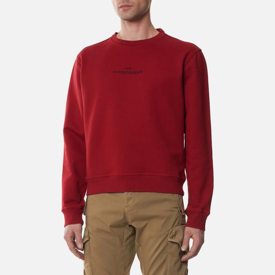 Мужская толстовка Maison Margiela Upside Down Logo Embroidered Military Red