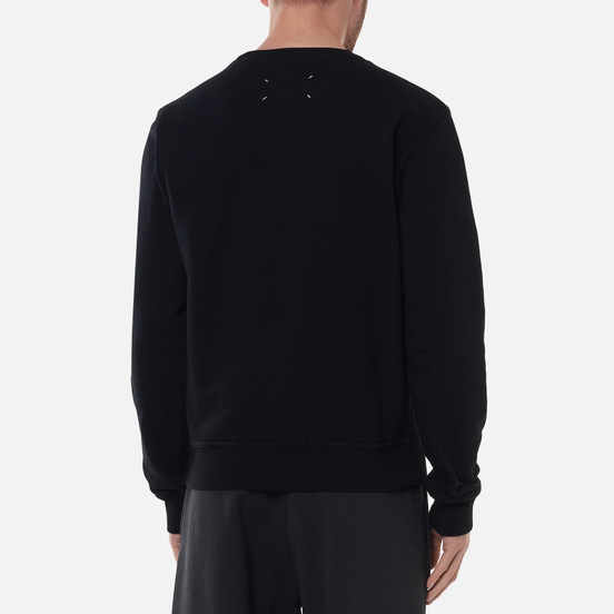 Мужская толстовка Maison Margiela Upside Down Logo Embroidered Black