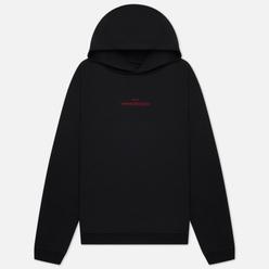 Мужская толстовка Maison Margiela Upside Down Logo Embroidered Hoodie Black