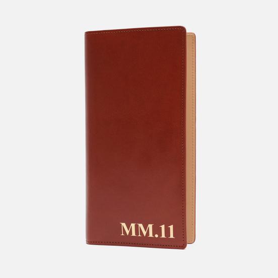 Кошелек Maison Margiela Four Stitch Travel Shiny Leather Brown
