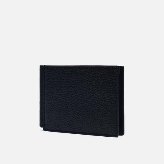 Кошелек Maison Margiela Contrast Stitch Grained Texture Black/Silver