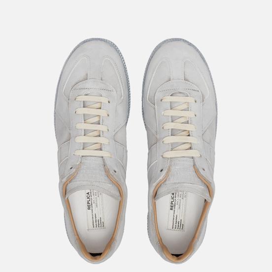 Мужские кроссовки Maison Margiela Replica Low Top Grey/White Print
