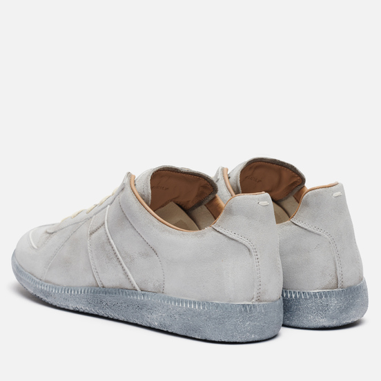 Мужские кроссовки Maison Margiela Replica Low Top Grey/White Print