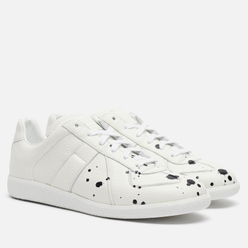 Мужские кроссовки Maison Margiela Replica Low Dots Plain Leather White/Black