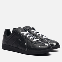 Мужские кроссовки Maison Margiela Replica Low Dots Plain Leather Black/White