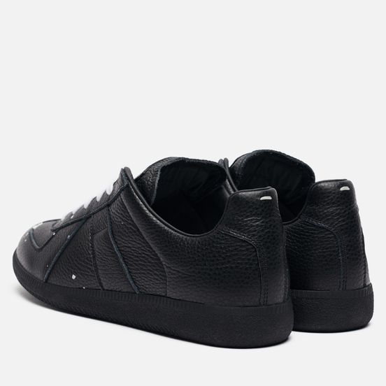 Мужские кроссовки Maison Margiela Replica Low Dots Plain Leather Black/White