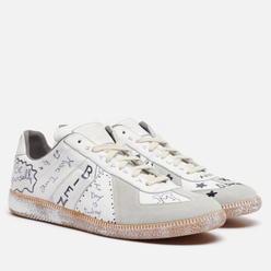 Мужские кроссовки Maison Margiela Replica Low Graffiti Details White Vintage/Graffiti