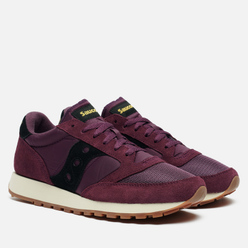 Мужские кроссовки Saucony Jazz Original Vintage Suede Logo Blackberry/Black
