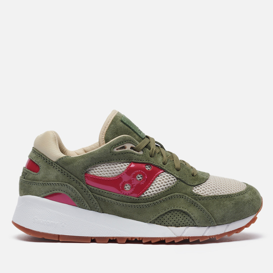 Мужские кроссовки Saucony x Up There Shadow 6000 Doors To The World Olive/Natural/Vibrant Pink