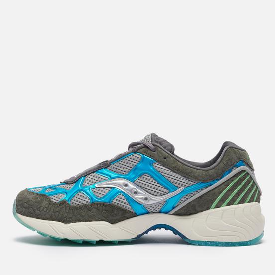 Мужские кроссовки Saucony x Fresh Rags Grid Web Manatee Black/Grey/Blue