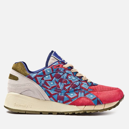 Кроссовки Saucony x Bodega Shadow 6000 African Print Red/Grey