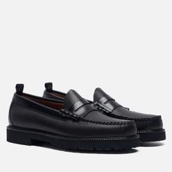 Мужские ботинки лоферы Fred Perry x G.H. Bass Textured Black