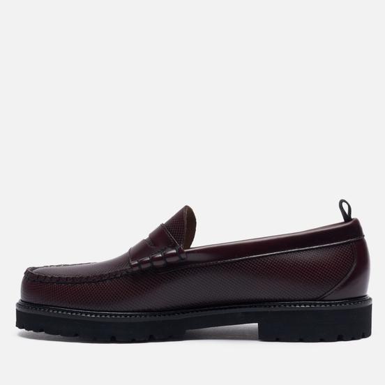 Мужские ботинки лоферы Fred Perry x G.H. Bass Textured Ox Blood