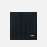 Мужской шарф Lacoste Green Croc Wool Black фото- 0