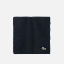 Шарф Lacoste Green Croc Wool Black фото- 0