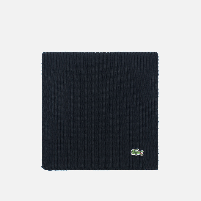 Мужской шарф Lacoste Green Croc Wool Black