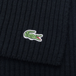 Мужской шарф Lacoste Green Croc Wool Black фото- 2