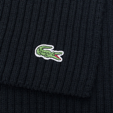 Шарф Lacoste Green Croc Wool Black фото- 2