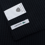 Мужской шарф Lacoste Green Croc Wool Black фото- 3