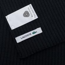 Шарф Lacoste Green Croc Wool Black фото- 3
