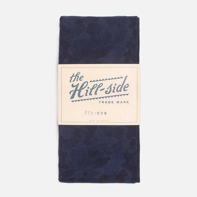 The Hill-Side Brushed Jacquard Men's scarf Camouflage Navy