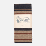 Шарф The Hill-Side Wool Blend Stripe Tan/Navy фото- 0