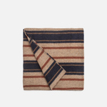 Шарф The Hill-Side Wool Blend Stripe Tan/Navy фото- 1