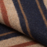 Шарф The Hill-Side Wool Blend Stripe Tan/Navy фото- 4