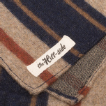 Шарф The Hill-Side Wool Blend Stripe Tan/Navy фото- 2