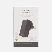 Сетевое зарядное устройство Native Union Smart Charger 4 Port USB/USB Type-C 5.4A Grey фото- 6
