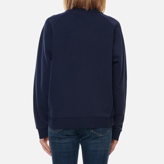 Женская толстовка Lacoste Crew Neck Cotton Fleece Navy Blue