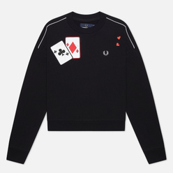 Женская толстовка Fred Perry x Amy Winehouse Applique Black
